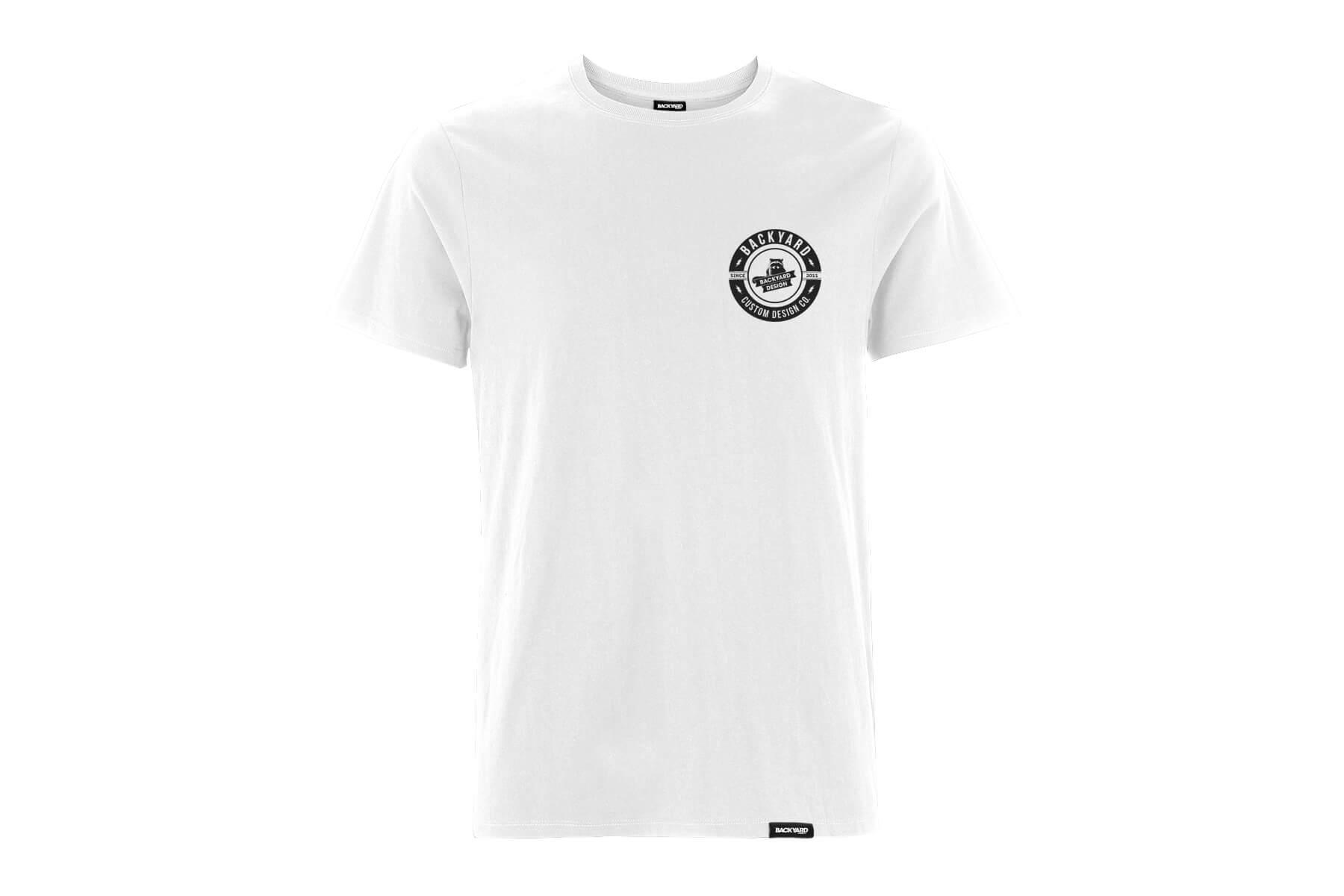 Backyard Design T Shirt Circle Logo Weiss White Back BYD Clothing Motocross MX Tee