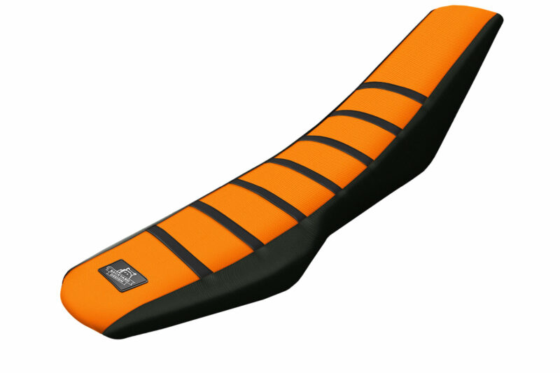 KTM-SMC-R-690-Sitzbankbezu Orange Schwarz